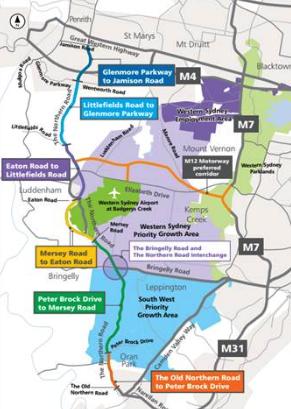 Western Sydney Infrastructure Map